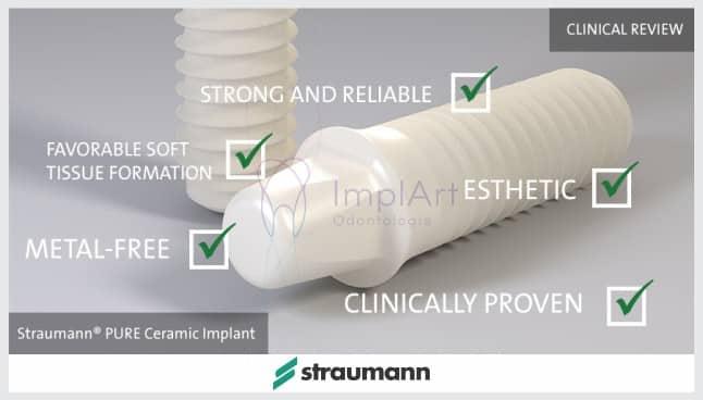 implantes de cerâmica pura Straumann implante estético implante branco
